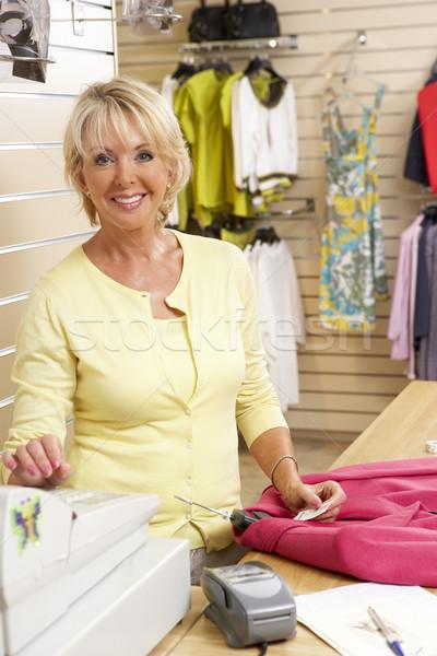 Сток-фото: женщины · продажи · помощник · одежду · магазине · женщину