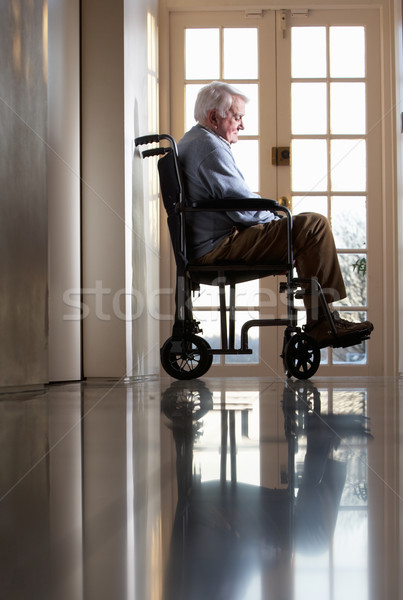 Disabled Senior Man Sitting In Wheelchair Stock photo © monkey_business