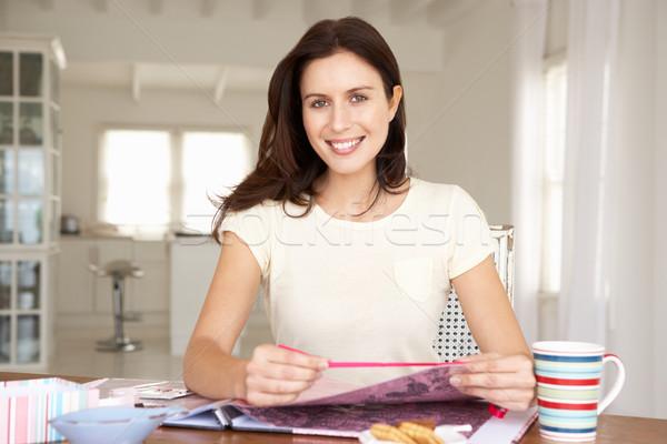 Woman scrapbooking Stock photo © monkey_business