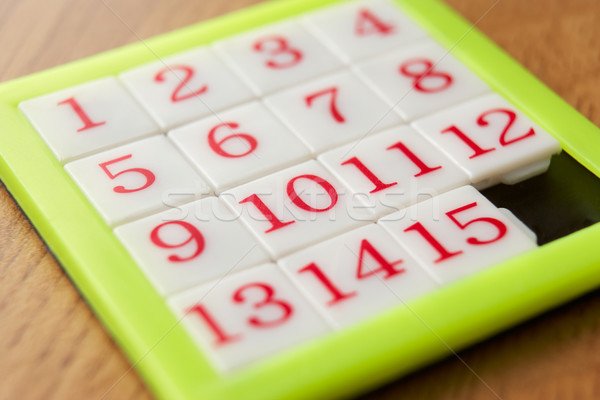 Aantal puzzel speelgoed plastic om horizontaal Stockfoto © monkey_business