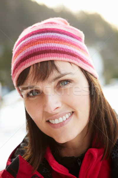 Middle Aged Woman Dressed For Cold Weather Stock photo © monkey_business