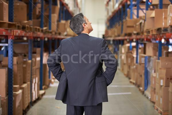 Foto stock: Gerente · armazém · homem · empresário · caixa