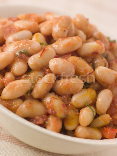 Saffron and Tomato Braised Cannellini Beans Stock photo © monkey_business