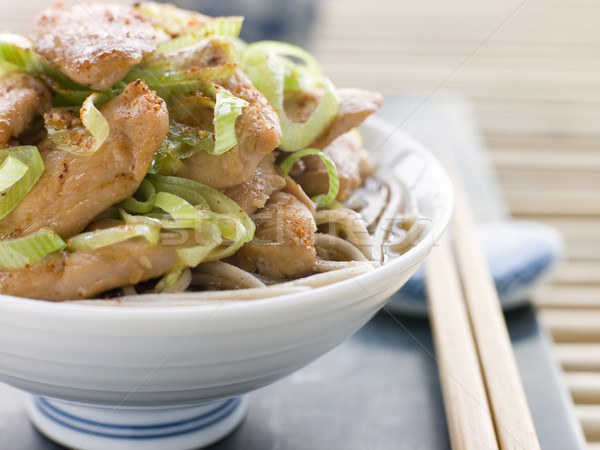 Tál tyúk póréhagyma tészta húsleves Kína Stock fotó © monkey_business