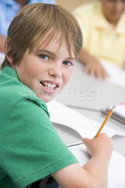 Stockfoto: Schrijven · boek · kinderen · kind · potlood