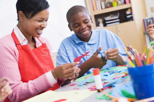 Elementary schoolart class Stock photo © monkey_business