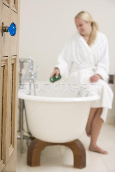女性 バス 泡風呂 バスタブ ホーム ルーム ストックフォト © monkey_business