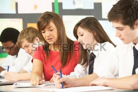 школьников учитель первичный класс женщину студент Сток-фото © monkey_business
