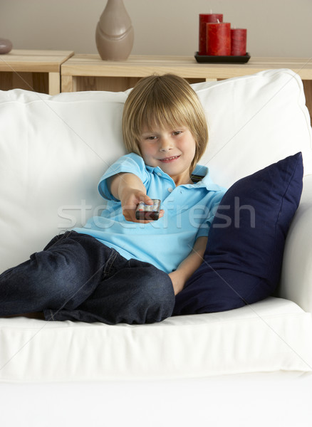 Young Boy Watching Television at Home Stock photo © monkey_business