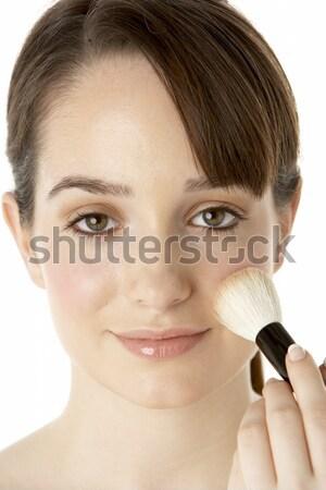 Adolescente composent femme beauté couleur Photo stock © monkey_business