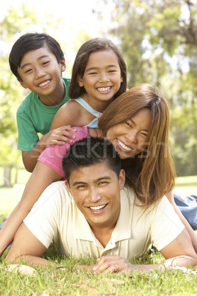 Stok fotoğraf: Aile · gün · park · çocuklar · adam