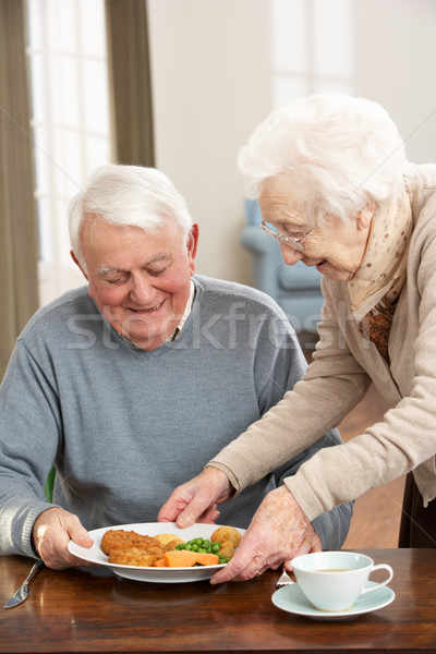 Senior Couple Enjoying Meal Together Stock photo © monkey_business