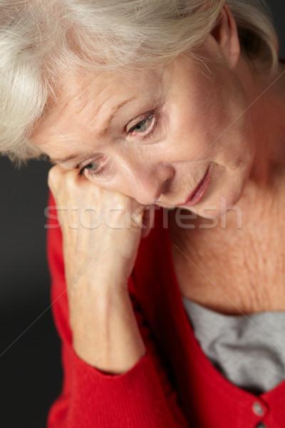 Idős nő szenvedés depresszió magányos árnyék Stock fotó © monkey_business