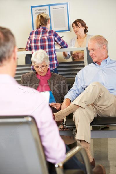 Orvosok váróterem nő nők férfiak csoport Stock fotó © monkey_business