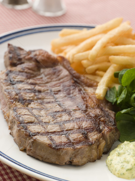 Steak Frite with Watercress and Barnaise Sauce Stock photo © monkey_business