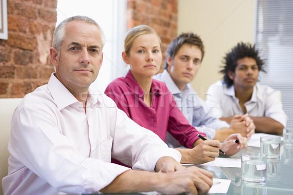 Quatro sala de reuniões tabela pessoas de negócios trabalhando Foto stock © monkey_business