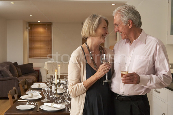 Couple Throwing A Dinner Party Stock photo © monkey_business