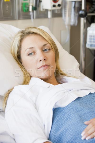 Mulher cama de hospital feliz saúde hospital medicina Foto stock © monkey_business