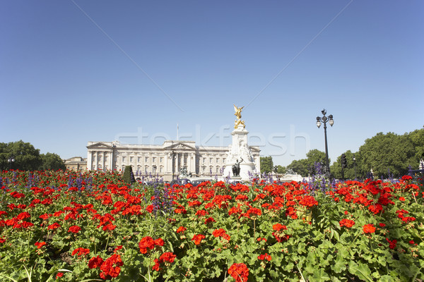 Buckingham Palace With Flowers Blooming In The Queen's Garden, L Stock photo © monkey_business