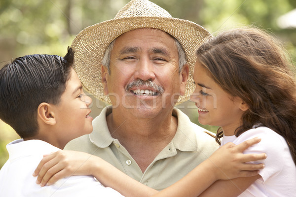 Grandfather With Grandchildren In Garden Stock photo © monkey_business