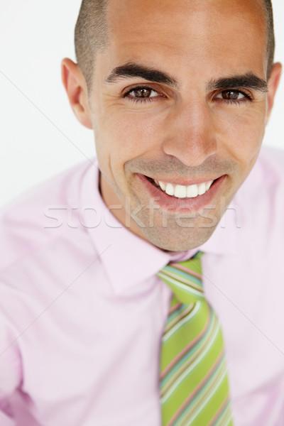 Jóvenes empresario cabeza espalda feliz trabajo Foto stock © monkey_business