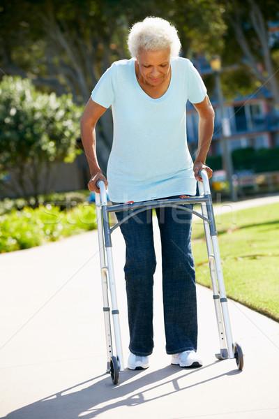 Senior Woman With Walking Frame Stock photo © monkey_business