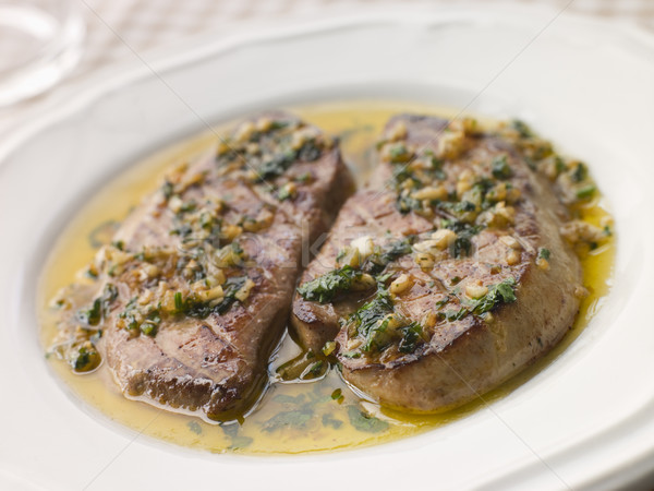 Foie Gras seared in Garlic Butter Stock photo © monkey_business