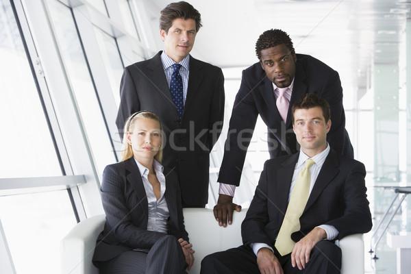 4 オフィス ロビー ビジネス 女性 ストックフォト © monkey_business