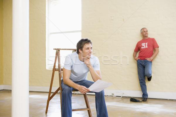 二人の男性 はしご 1 紙 ストックフォト © monkey_business