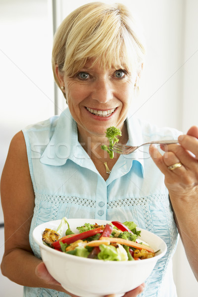 Salade femme alimentaire portrait Photo stock © monkey_business