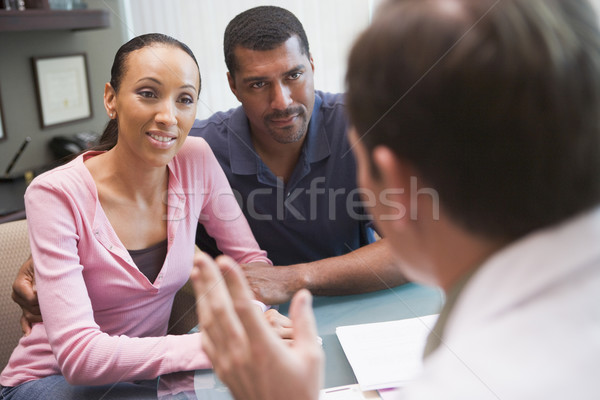 Couple having discussion with doctor in IVF clinic Stock photo © monkey_business