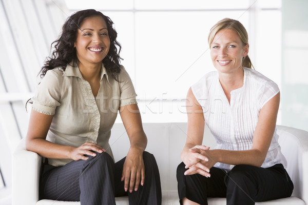 Businesswomen sitting in lobby Stock photo © monkey_business