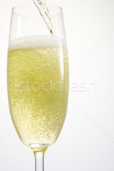 Single Champagne Flute Stock photo © monkey_business