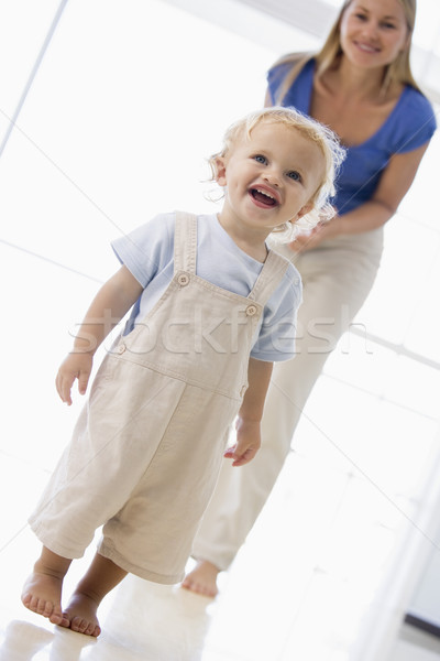 Anya fiú bent mosolyog baba boldog Stock fotó © monkey_business