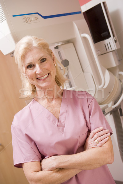 Portrait Of A Nurse In Front Of A Mammogram Machine Stock photo © monkey_business