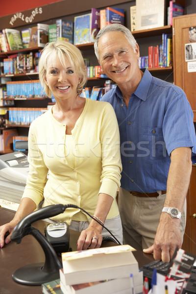 Couple running bookshop Stock photo © monkey_business