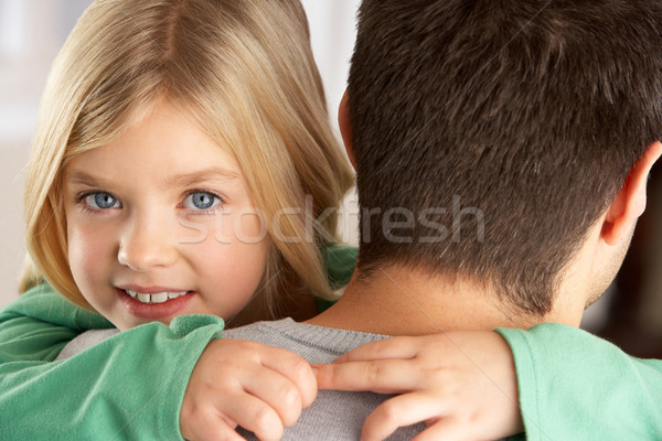 Portrait Of Happy Daughter Looking Over Fathers Shoulder Stock photo © monkey_business