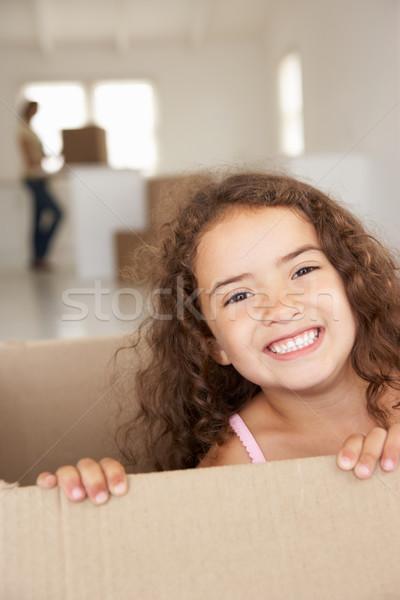 Kislány új otthon nő lány anya portré Stock fotó © monkey_business