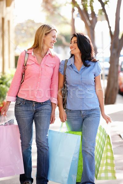 Women carrying shopping Stock photo © monkey_business