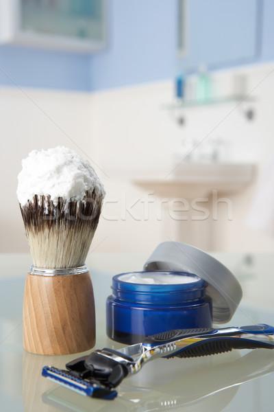 Man's shaving kit in bathroom Stock photo © monkey_business