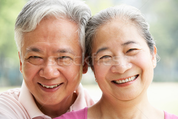 Head And Shoulders Portrait Of A Senior Chinese Couple Stock photo © monkey_business