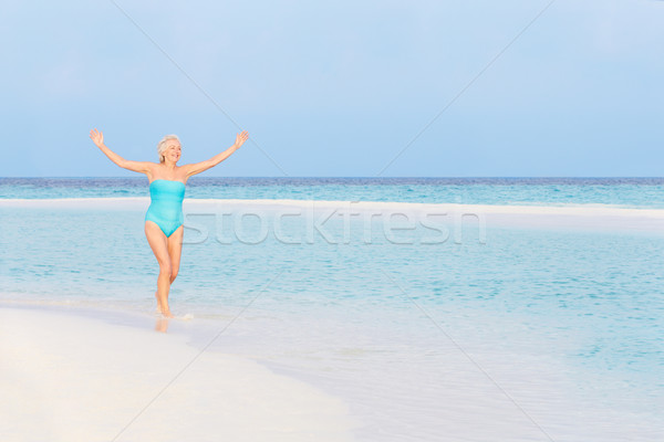 Supérieurs femme belle tropicales mer Photo stock © monkey_business