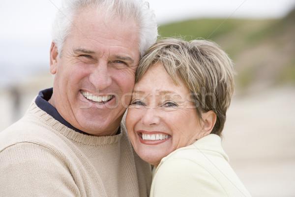 пару пляж улыбаясь женщину любви человека Сток-фото © monkey_business
