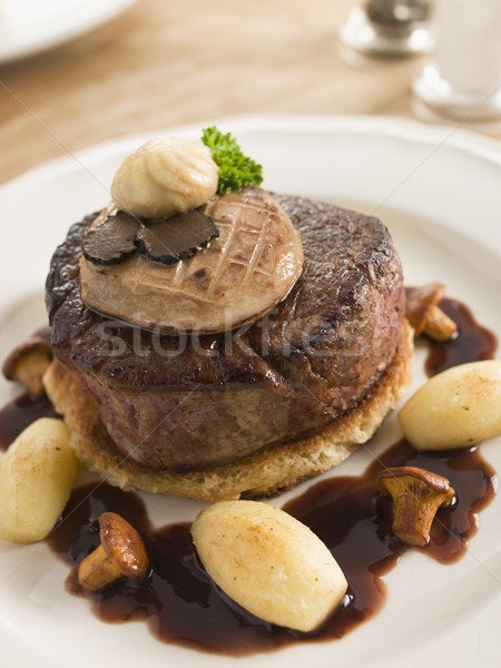 Tournedos Rossini with Cocotte Potatoes Stock photo © monkey_business