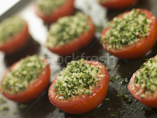 Oven Roasted Tomatoes with a Provencale Crust Stock photo © monkey_business