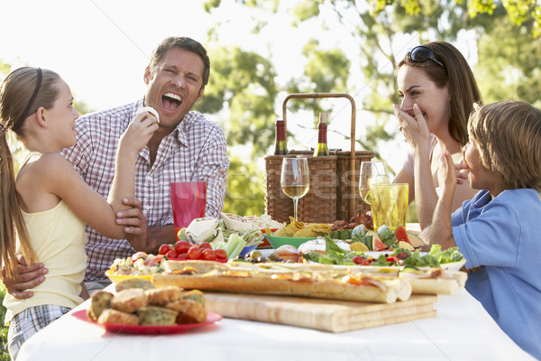 Family Dining Al Fresco Stock photo © monkey_business
