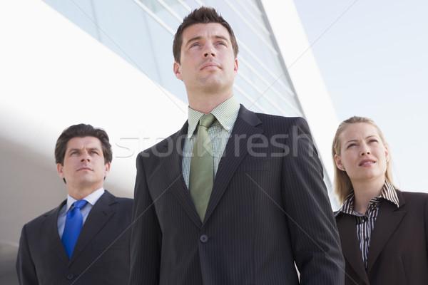 Foto stock: Tres · pie · aire · libre · edificio · negocios