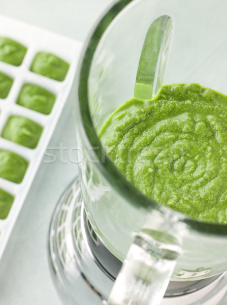 Broccoli and Spinach baby Food Puree in a Food Blender Stock photo © monkey_business