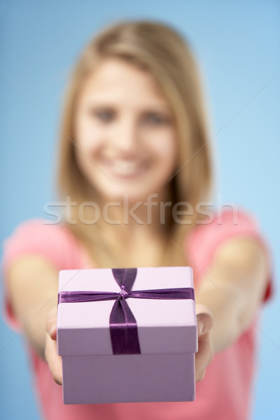 Dom caixa menina apresentar Foto stock © monkey_business