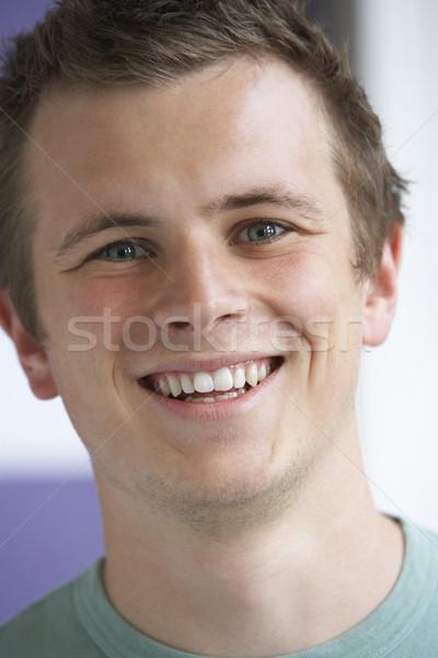 Photo stock: Portrait · souriant · enfants · garçon · personne